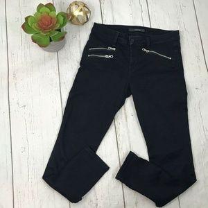 Joes Jeans Black Stretch Slim Skinny Zipper Pocket